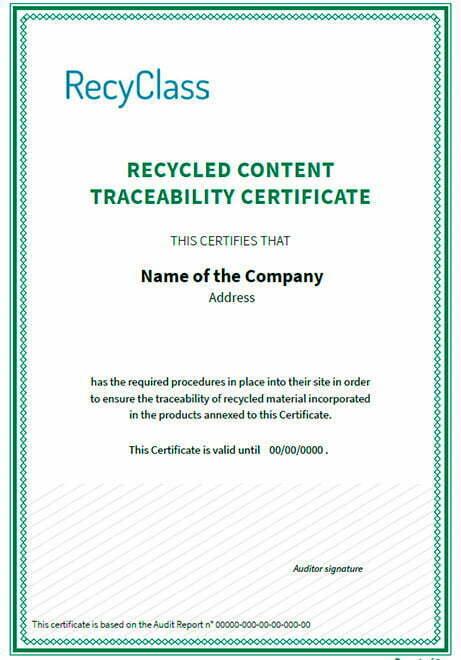 Trazabilidad contenidp de plástico reciclado